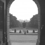 Lincoln Statue viewed from Bascom Hall, #S02411