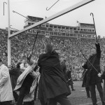 Law students' halftime cane toss, 1960s. #040502as06