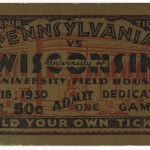 Football game ticket. 1930. Memorabilia_00487