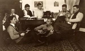 A mandolin serenade, c. 1890s. #S08806