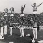 UW Cheerleaders at the Rose Bowl, 1963. #S09573