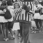 UW cheerleader dances with Bucky Badger, #S11963