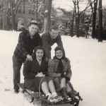 Sledding on Bascom Hill, #S12110