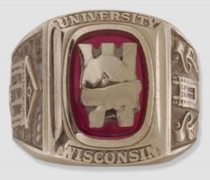 UW class ring, 1954. #arch3d0008ax