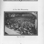 Mass meeting - UW football, 1909. 1911 Badger yearbook.
