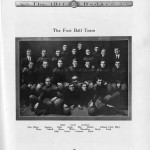 UW football team, 1909. 1911 Badger yearbook.