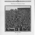 UW vs. MN, Nov. 1909. 1911 Badger yearbook