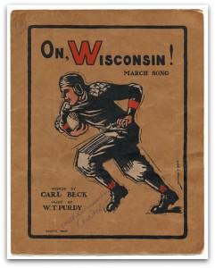 "Original ""On Wisconsin"" sheet music"