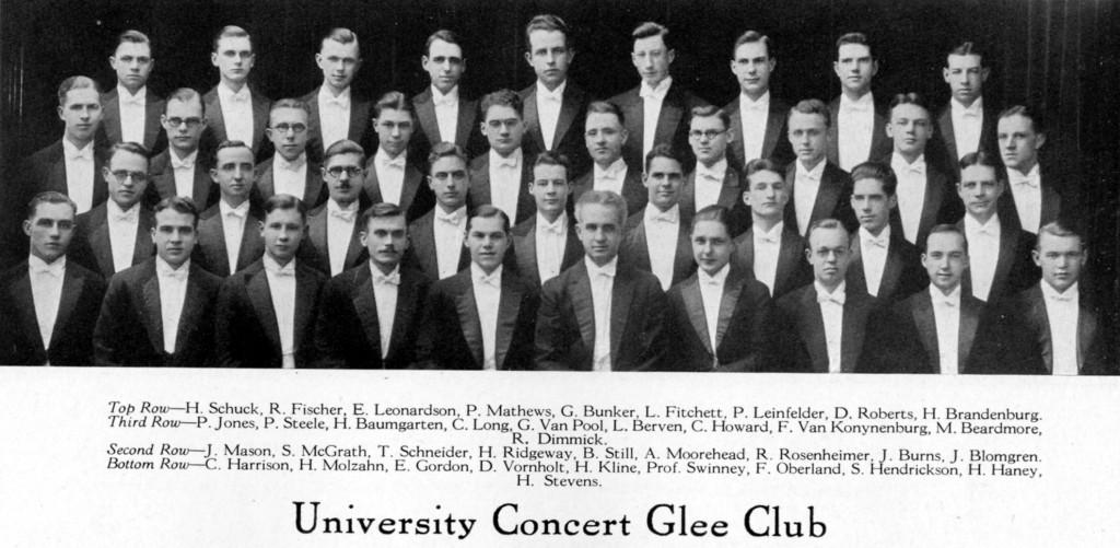 UW Glee Club, 1926