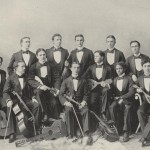 Harry McCard pictured with Mandolin Club, 1897