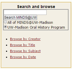 MINDS@UW Search Box