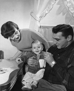 Alan and Yvonne Ameche, with young son Brian.