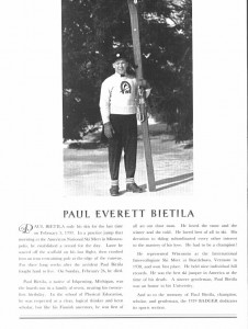 Paul Bietila, 1939 Badger Yearbook tribute.