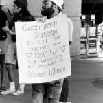 Employee firing protest