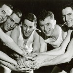 Starting lineup (l-r): Ted Strain, Gene Englund, Charles Epperson, Johnny Kotz, and Fred Rehm. #dn06072601