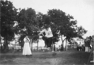Female long-jumper, c. 1916.