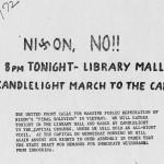 Anti-Nixon march flier