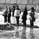 Peace vigil on Library Mall