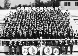 UW band at the Rose Bowl, 1960.