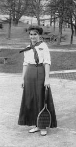 Tennis player, c. 1914.