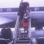 UW Band member, Larry O'Brien, returns home from the 1963 Rose Bowl.