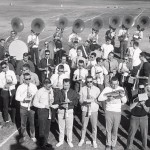 UW band at the Rose Bowl, 1963. Image #S07391.