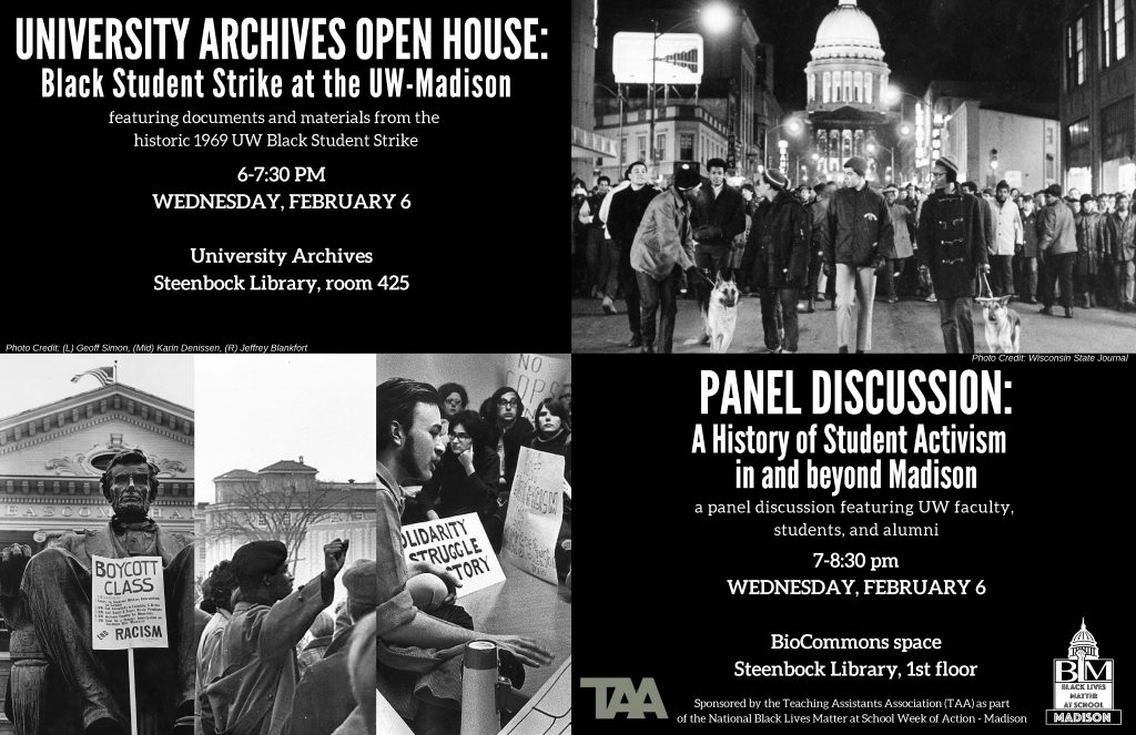 University Archives Open House and Panel Discussion flyer