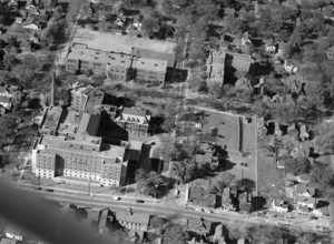 Madison General Hospital Campus ca. 1954 - From Meriter Foundation Archives