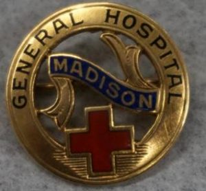Pin worn by MGH School of Nursing graduates. Both images from the Meriter Foundation Archives.