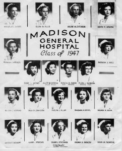MGH Class of 1947. Both images are from Meriter Foundation Archives