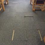 Worn (and hazardous) carpeting replaced