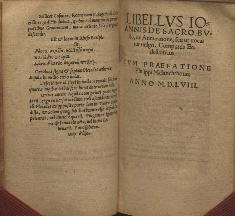 title page for a work dated 1558 (with continuous signature marks)