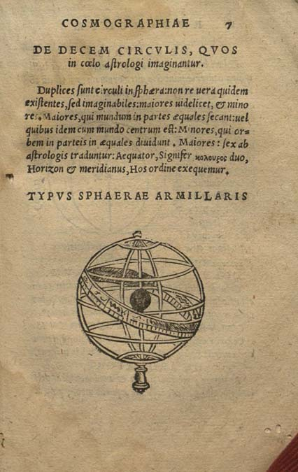 fol. 7 with armillary sphere