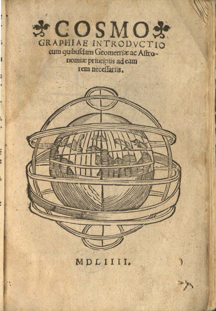 title page of Cosmographiae introdvctio (1554)
