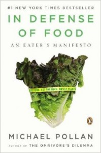 "Book Cover of ""In Defense of Food"""