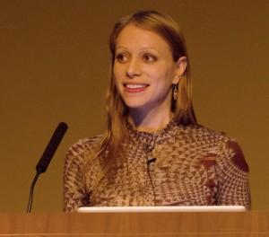 Lauren Redniss Photo at Keynote Speech at UW-Madison