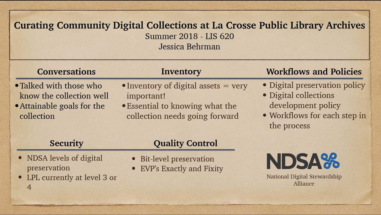 LIS 620 Summer 2018 Showcase | Information School Library
