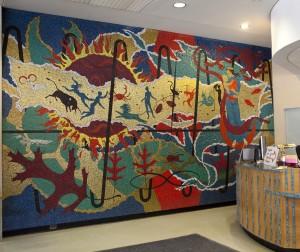 Memorial Library mosaic mural