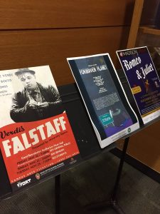 Posters for area musical Shakespeare productions