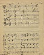 """Onward"" manuscript score"