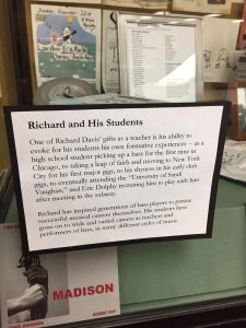 Display case devoted to students of Richard Davis