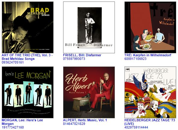 Naxos Music Library Jazz featured titles