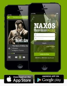 Naxos Music Library Jazz mobile app promotional image