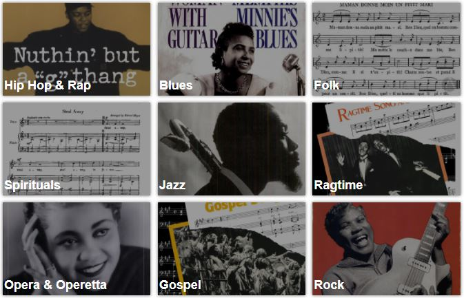 Genres in African American Music Reference database