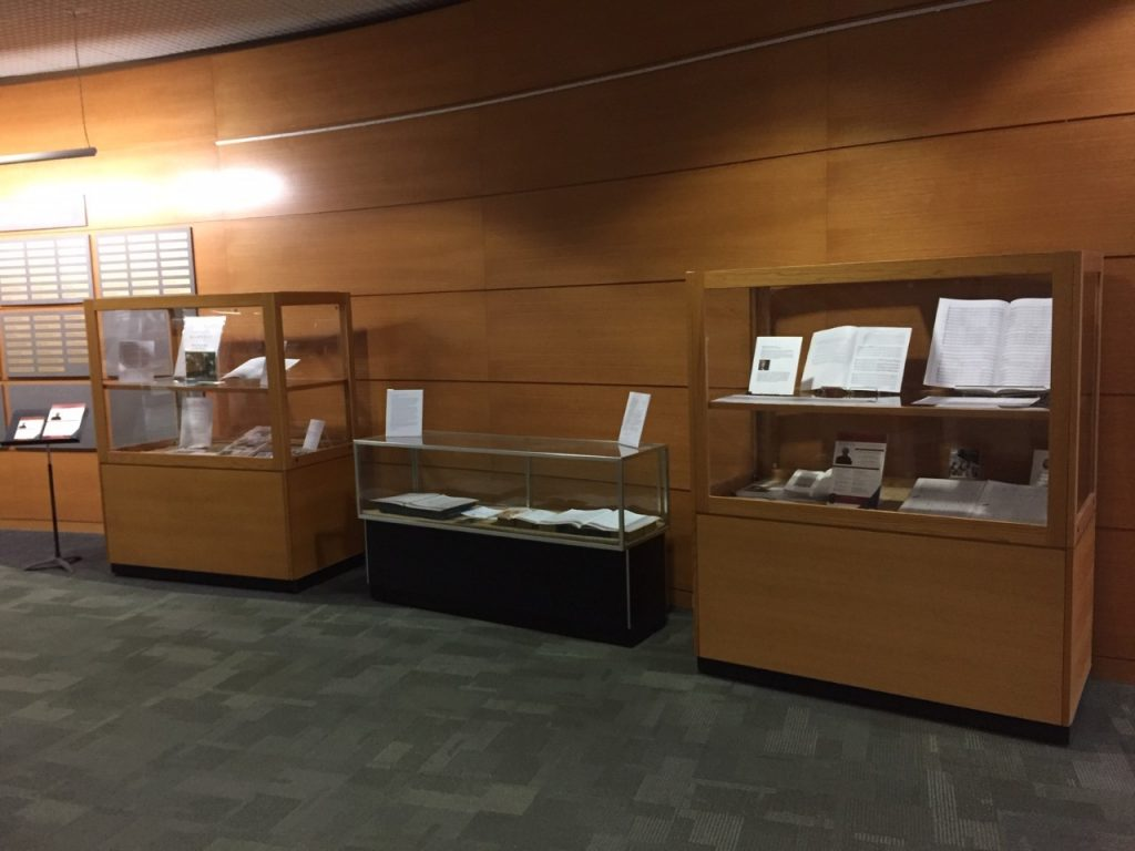 Exhibit in Memorial Library lobby celebrating John Harbison and his Madison connection on his 80th birthday