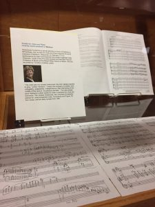 Photocopy manuscript score of John Harbison's Sonata for Viola and Piano