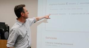 Eliot Finkelstein demonstrates a sample search