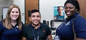 Miguel Ruiz with TOPS program coordinators