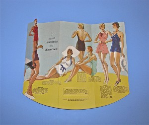 Bathing suit advertisement 2010.7.16. From the Dovie Horvitz Collection / UW Digital Collections