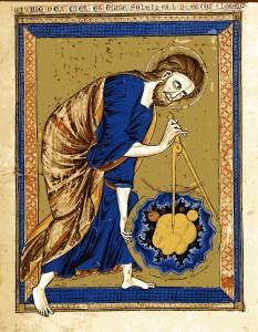 Bible Moralisée. Codex Vindobonensis 2554 der Österreichischen Nationalbibliothek. Graz: Akademische Druck-und Verlagsanstalt, 1973. fol. 1v: God as Creator.
